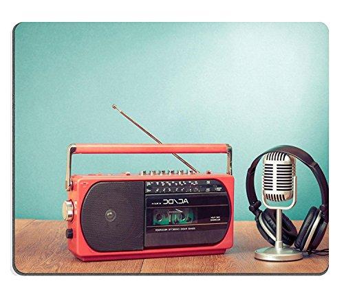 WYRUJYU Mousepads Retro Radio y Reproductor de Casete Auriculares micrófono Frontal Menta...