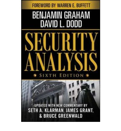 Security Analysis: Principles and Technique (Security Analysis Prior Editions) (Mixed media product) By (author) Benjamin Graham
