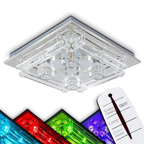 LED Farbwechsler Deckenleuchte mit Fernbedienung