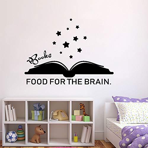yaonuli boeken, hersenen wandlamp voor levensmiddelen, muren, woorden bladwijzer, boek, vinyl, wandsticker, cadeau, slaapkamer, decoratie voor kinderen