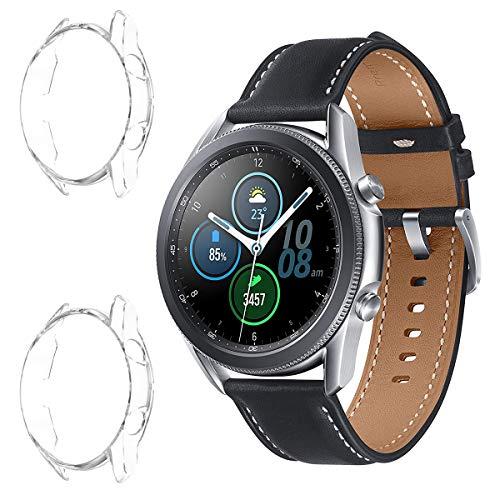 ELYCO para Samsung Galaxy Watch 3 45mm Funda Protectora, [3 Pack] [Anti-rasguños] Cubierta Protectora TPU Protector de Pantalla para Samsung Galaxy Watch 3 45mm (Transparente)
