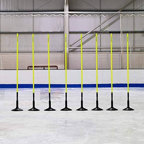 FORZA Eishockey Training Agilität Sprunghafte Slalomstangen – Eishockey Trainingsausrüstung (8er-Set, 1,8m)