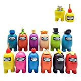 Juego de 12 figuras en miniatura para decoración navideña de jardín, decoración de mesa, figuras de ...