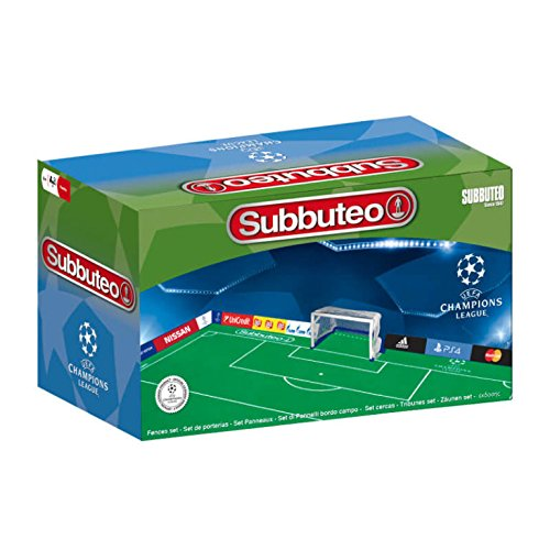 Subbuteo- Set Pannelli Bordo Campo UEFA Champions League, Multicolore, Ninguna, 81496