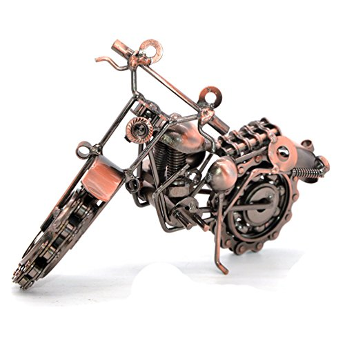 Kreative Handlötarbeiten Schmiedeeisen Motorrad Modell Metall Moto Collection Home Desk Decor Ornaments, Metall, Modell 2