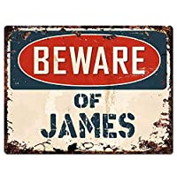 ジェームズティンサインウォールアイアンペインティングレトロプラークヴィンテージメタルシート装飾ポスターおかしいポスターバーガレージカフェホームの工芸品に注意してください