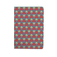 キッズ 人気 ipad air4 2020ケース ipad 10.9インチ カバー ぼろぼろの色の大小の三角形ビンテージ幾何学的なタイルデザイン 手帳型 ブック型 おしゃれ PUレザー 軽量 角度調節可 スカイブルーマリーゴールドスカーレット