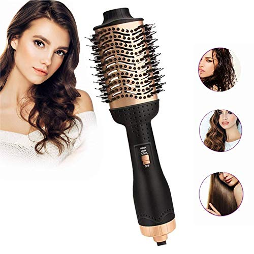Professionele elektrische haardroger, borstel, volumizer, slag-strekker-haar-krulspeler, penseel, rol elektrische hetelucht-krultang, combi-time