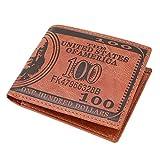 HENGSONG Men US Dollar Bill Wallet PU Leather Credit Card Photo Holder Bifold Billfold (?Dark Brown)