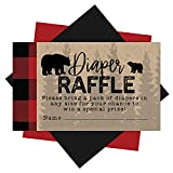 25 Baby Shower Diaper Raffle Tickets For Baby Shower Boy - Lumberjack Baby Shower Games For Boys, Diaper Raffle Cards, Baby Raffle Tickets, Baby Shower Invitation Inserts, Baby Shower Ideas