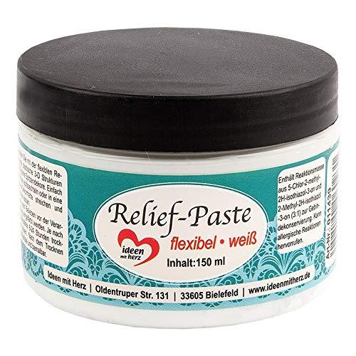 Ideen mit Herz Relief-Paste   flexibel   150ml (weiß)