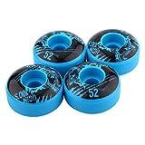 Ginyia Ruedas de Skateboard, 2.04 X1.18 Pulgadas 4 Piezas/Juego Ruedas de Skateboard de PU duraderas clásicas duraderas para Exteriores para Skateboard básico(Azul)