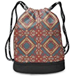 Ovilsm Cord Bag Sackpack Geometric Creative Graphics Drawstring Bag Sports Portable Backpack Shoulder Bags Gym Bag