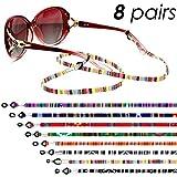 8 Piezas Correas de Soportes de Gafas Cadena de Gafas Cuerda Cordón de Gafas para Mujer Hombre