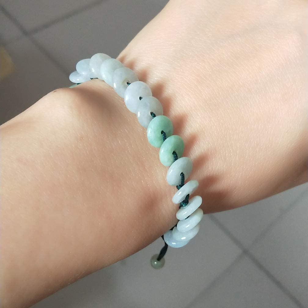 Myanmar A Goods Jadeite Three Color Jade Bracelet Peace Buckle Bangle