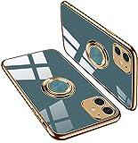 iPhone 11 ケース TPU 耐衝撃 リング付き 車載ホルダー対応 軽量 薄型 擦り傷防止 取り出し易……