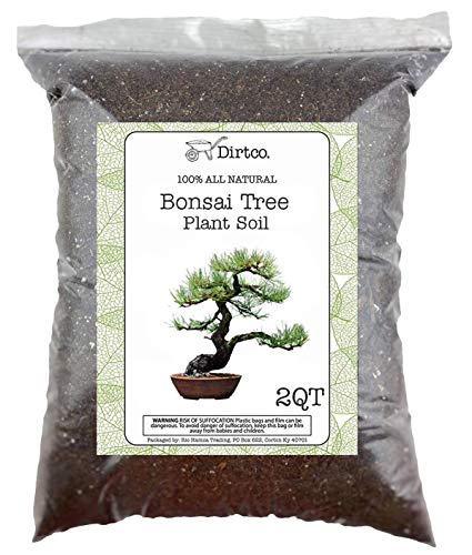 Bonsai Soil - All-Purpose Bonsai Tree Soil Mix, All-Natural Organic Material Great for All Bonsai Trees Nutrient-Rich Bonsai Soil Mixture (2qts)