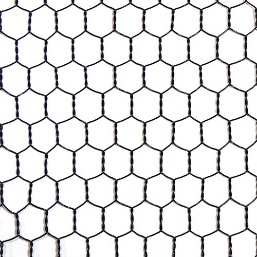 工作用ネット 亀甲金網 ブラック 10160145 線径0.85mm 450幅x1m