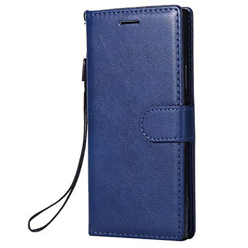 Hülle für Sony Xperia XA1 Hülle Handyhülle [Standfunktion] [Kartenfach] Tasche Flip Case Cover Etui Schutzhülle lederhülle klapphülle für Sony Xperia XA1 - DEKT051679 Blau