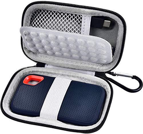 Tasche für SanDisk Extreme Portable SSD Externe Festplatte 250 GB / 500 GB / 1 TB / 2 TB Extreme SSD SDSSDE60, Tragetasche - Schwarz