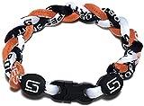 Sport Ropes 3 Rope Titanium Bracelet (Orange/Black/White, 8')