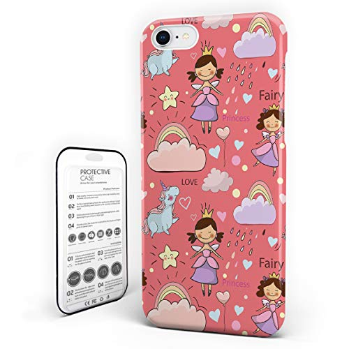 deco fairy iphone 6 case rubbers iPhone 6 Case/iPhone 6s Case Teen Girls Decor Design Hard Plastic PC Ultra Thin Protective Phone Case Cover Compatible iPhone 6/6s (4.7 inch) Unicorn Rainbow Clouds Star Fantasy Girls Fairy Tale