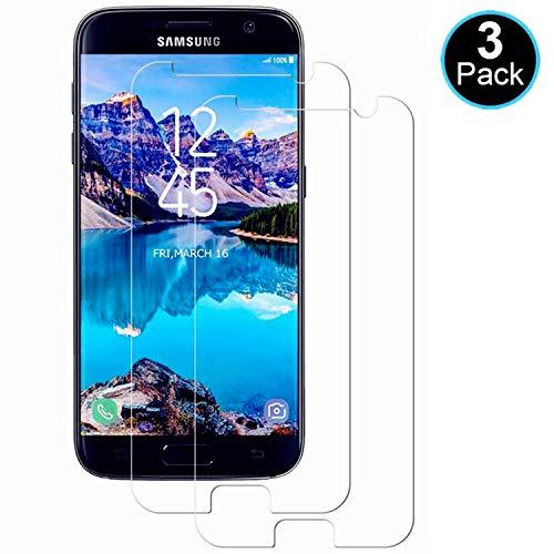 WISMURHI [3 Stück Panzerglas kompatibel mit Galaxy S7, Schutzfolie für Galaxy S7 - Anti-Kratzer, Anti-Öl, Anti-Bläschen, HD Panzerglasfolie Displayschutzfolie für Galaxy S7