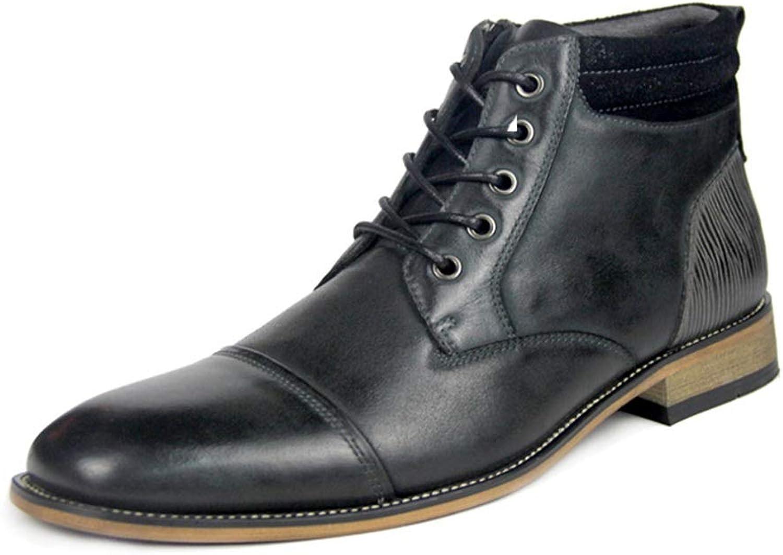 Qiusa Chukka Stiefel für Mnner Soft Sohle Rutschfest Durable Comfort Atmungsaktive Stiefel (Farbe   Schwarz, Gre   EU 41)