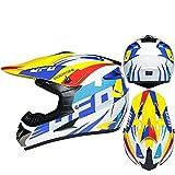 DZSLTC Cascos Moto Y Elegantes Casco De Motocicleta De Ligereza Dura Capacete Motocross Unisex Casco Integral Protector Seguridad Cabeza (Color : B, Tamaño : M)