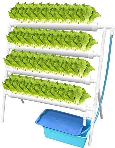 Vogvigo - Kit per la coltivazione idroponica, 36 site, 4 tubi, impianto idroponico, kit di attrezzi per la coltivazione...