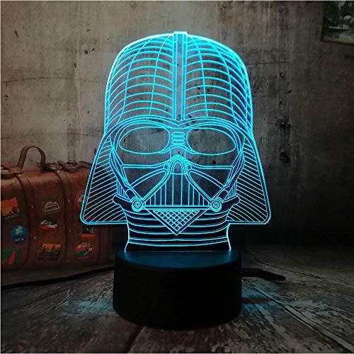 3D-Illusionslampe LED-Nachtlicht Star Wars Black Knight Erstaunliche 7 Farbwechsel tragbare Laterne Remote Controler Sleep Desk Geschenk für Kinder