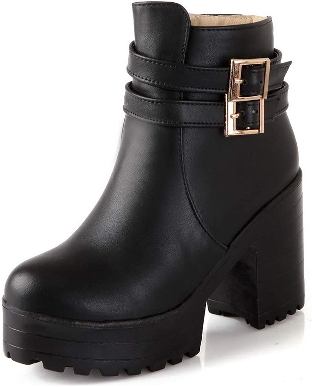 AdeeSu Womens Boots Platform Bucket-Style Urethane Boots SXC02932
