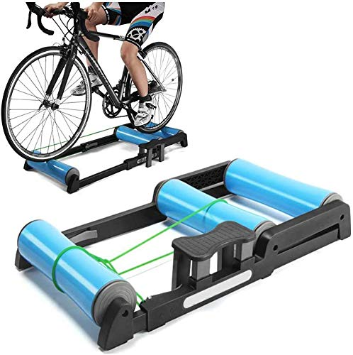 FHUILI Vélo Pliable Entraîneur - vélo Rouleaux vélo Pliable vélo Formation Support VTT Entraîneur Station Road Cyclisme Roller Vélo Exercice Résistance Machine d'exercice de Remise en Forme,A