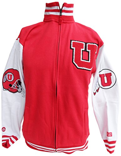 Donegal Bay NCAA Utah Utes Varsity Letterman's Sweatshirt, Größe S-XXL, Rot