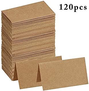 XMSM 120pcs Vintage Blank Kraft Paper Table Number Name Card Place Cards Wedding Wedding Birthday Party Decoration Invitat...