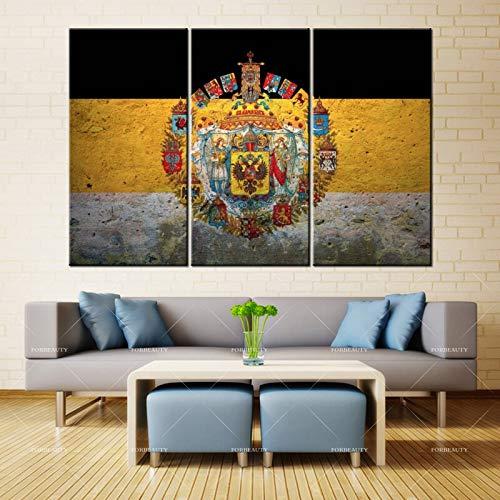 PSpXU Rahmenlos-Gemälde Wandflagge Abzeichen Russisches Reich Inkjet wasserdichte Tinte Hauptdekoration
