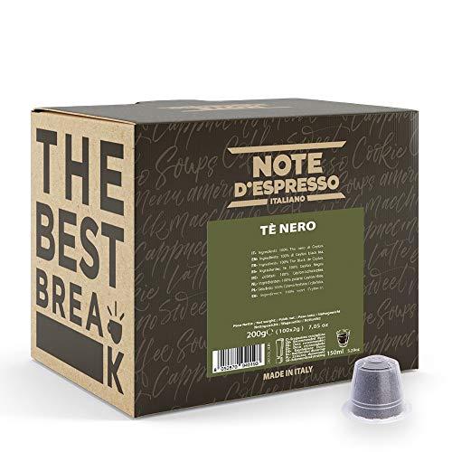 Note d'Espresso Italiano - Cápsulas de té negro, 2g (caja de 100 unidades) Compatible con cafeteras Nespresso*