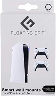 PS5 Wall Mounts by Floating Grip - Bundle - White (PS5/)