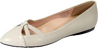Peerage Sidney (FT6043) Women Wide Width Pointed Toe Flats Beige 8.5