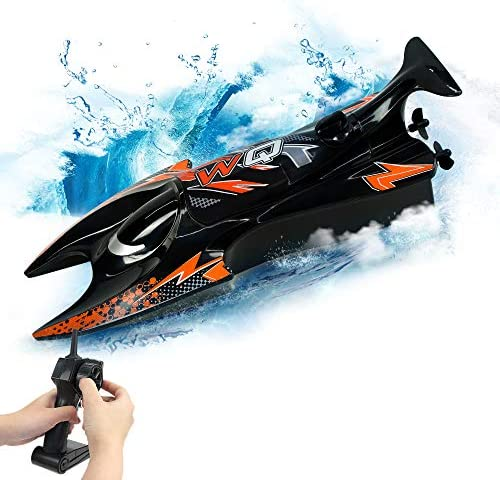 RC Boat Toy 2 4Hz Remote Control Speed Boat Dual Motors Self Righting Racing Boat 15KM H RC product image