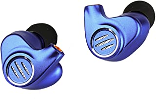 BGVP DMS 1DD+6 BA Hybird Drivers in Ear Monitor Headphones Dj Wired HiFi Stereo Mmcx High Fidelity Earphone Metal Headphones Detachable Cable (3.5mm Blue with Mic)