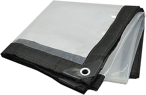 T-ShommeET Bache Transparente épaissie De Bordure Perforée Imperméable à l'eau Antigel Isolation Anti-Vieillissement Extérieur (LxW 3X8m) Tissu Enduit
