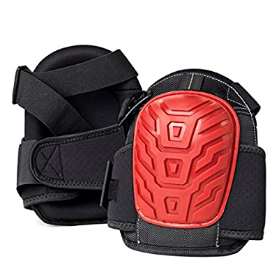 GEL SOFTEES – Save Your Knees With The Best Heavy Duty Rubber Shell Gel Knee Pads for Work & Gardening by Gamba Tools – Great For Construction, Flooring, Cleaning & Knee Replacements