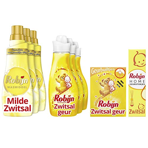 Robijn Zwitsal Geurpakket - Wasmiddel, Wasverzachter, Geurbuiltjes en Geurstokjes - 1 pakket