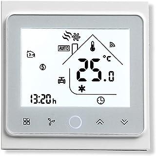 BecaSmart Series 002 Termostato Inteligente Wi-Fi Pantalla táctil Termostato de sala Cuatro tubos para aire acondicionado ...