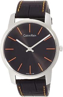 Calvin Klein Men's Brown Dial Leather Band Watch - K2G211GK