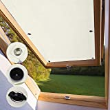 KINLO Protección Solar 【Des.Cuento】 Ventanas Térmica para Techo Protección térmica para Interiores sin taladrar y sin Pegamento Gran selección para Ventanas Velux Y85 y 085-96 x 100cm - Beige