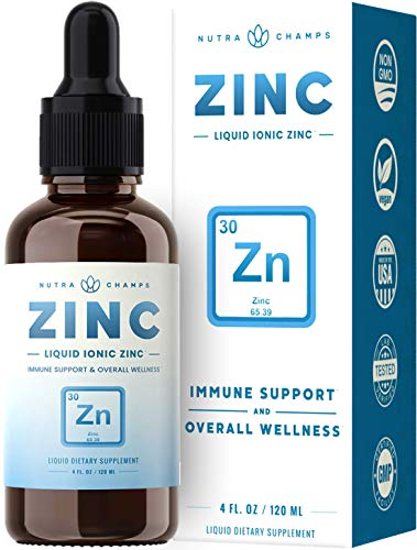 Organic Zinc Sulfate Liquid Supplement - Immune Support System Boost - Pure Ionic Concentrated Mineral Drops for Men, Women & Kids Enhanced with Vitamin C - 4 oz Great Tasting Defense Booster