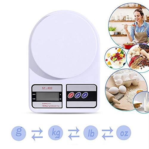 Hoge precisie digitale keukenweegschaal, multifunctionele weegschaal voor voedsel Elektronische kookschaal LCD-scherm (AAA-batterij),7kg(1g)