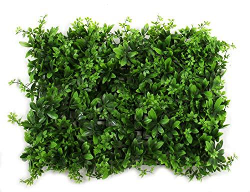 DARO DEKO Kunst-Pflanzen Gras-Matte XXL 40cm x 60cm kleine Blätter